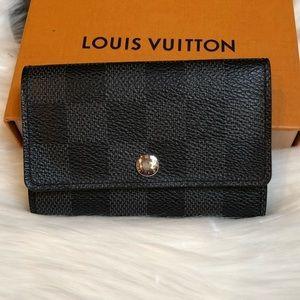Louis Vuitton Graphite 6 Key Holder